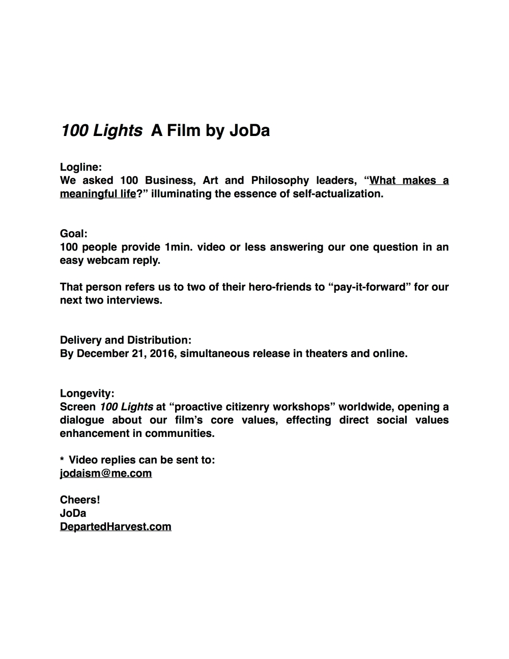 100 Lights by JoDa